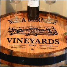 Maya Vineyards - Personalized Quarter Barrel Lazy Susan, Home or Bar