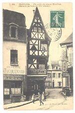 CPA 03 - MOULINS (Allier) - 80. Un coin du Vieux Moulins (Maison de bois du XVe)