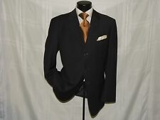 Classic 3 button Ventless Armani Collezioni men's solid Black coat jacket 44 R