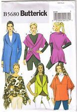 Easy Misses Stretch Knit Wrap Jacket Vest Poncho Sewing Pattern L XL XXL 16-26