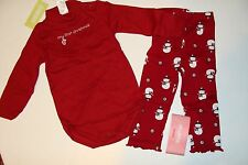 Gymboree Alpine Sweetie Girls Size 12-18 Months 1st Christmas Top Leggings  NWT