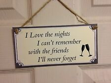 Friendship Sign Best Friend Gift Novelty Shabby Chic Plaque - Friends Nights