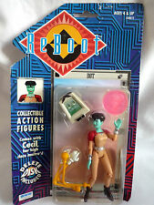 REBOOT ACTION FIGURE / DOT WITH CECIL / INCLUDES DELETE DISK / IRWIN TOYS