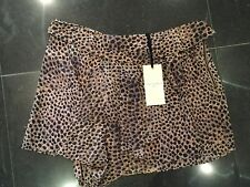 NWT Twenty8Twelve New & Genuine Ladies Brown 100% Silk Short Skirt UK Size 14