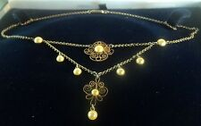 Norwegian Sterling Silver Gilt & Enamel Necklace c.1910/20s Marius Hammer Norway