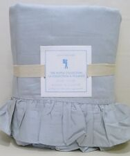 POTTERY BARN KIDS Ruffle Collection FULL/QUEEN Duvet Cover, GRAY, NEW