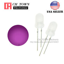 100pcs 5mm Diffused White Color Pink Light Round Top LED Emitting Diodes USA