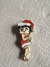 Betty Boop pin Sterling Silver Inlaid Mother of Pearl coral signed Shirley Zuni