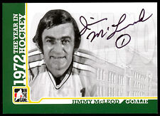 09 ITG 1972 THE YEAR IN HOCKEY WHA AUTO AUTOGRAPH JIMMY MCLEOD CHICAGO COUGARS
