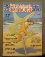 vtg old PHYSICAL CULTURE Magazine fitness exercise body building fashion 1932