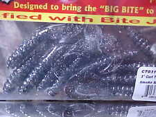 "(2) pks of Big Bite Baits 3"" CTG317 Curl Tail Grubs 20 total for Walleye/Bass"