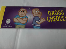 "Cheque Book Of Promises ""Gross Cheques"" Birthday/Gift. Free P&P"