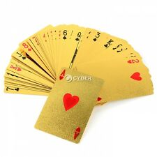 Playing Cards Foil Gold Plated Poker Casino Deck Collection Gilded Poker New Hot