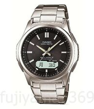 NEW CASIO WAVE CEPTOR WVA-M630D-1AJF Solar Radio Watch Silver Black Men's JAPAN