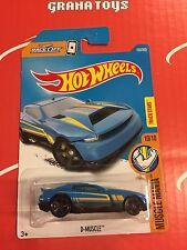 D-Muscle #193 Blue 2017 Hot Wheels Case J
