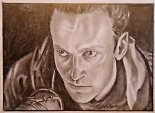 original pencil ACEO sketch card.AARON THE WALKING DEAD