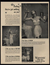 1950 Sexy Woman blow Bubbles In WARNER'S Strapless Bra - Corsette VINTAGE AD