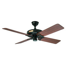 "Hunter 52"" Outdoor Original Black Ceiling Fan  23838 new"