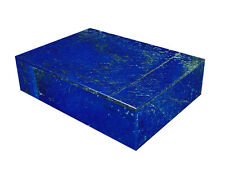 """BUTW Hand Crafted Afghan Lapis Lazuli 6 3/4"""" Jewelry Box Gorgeous Color 0790K ab"""
