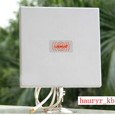 Aluminium Flat Panel Antenna 2.4Ghz 14DBI For Wireless Wifi Router Weatherproof