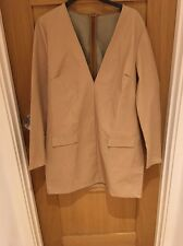 New Missguided Nude Leather Plunge Dress Size 12