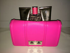 NWT VICTORIA'S SECRET Victoria Gift Bag Set Beauty Pink Clutch Lotion Mist Wash