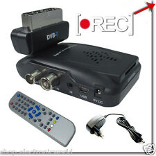 DECODER DIGITALE TERRESTRE DVB-T SCART CON USB SD MMC PVR VIDEO REGISTRATORE TV