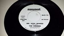THE SMUBBS Rosary Anne / Mr. Open Minded MONUMENT 11110 PROMO GARAGE PSYCH 45 7""
