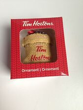 TIM HORTONS Christmas Ornament  SACK OF COFFEE BEANS, 2016, NEW IN BOX!