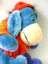 Disney Eeyore Plush Stuffed Animal Fall Orange Sweather Cap Leaves Winnie Pooh