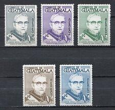 37311) GUATEMALA 1966 MNH** Msgr. Mariano Rossell 5v
