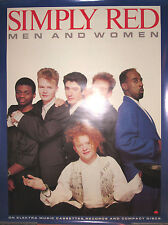SIMPLY RED Men And Women, Elektra promotional poster, 1987, 24x32, EX, Irish