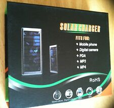 SOLAR CHARGER FOR MOBILE PHONE/DIGITAL CAMERA/PDA/MP3/MP4 PLAYER 1350mAh  BLACK