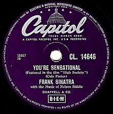 CLASSIC FRANK SINATRA 78  YOU'RE SENSATIONAL (High Society)  CAPITOL CL14646 EX