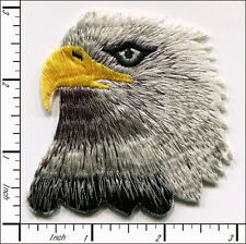 "10 Pcs Embroidered Iron on patch Ameircan White Head Eagle 2.95""x2.95"" AP018fA"