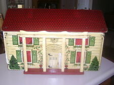 antique doll house and furniture