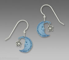 Sienna Sky Blue MOON KISSING Star EARRINGS Sterling Silver Celestial - gift box