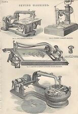 1898 ANTIQUE PRINT SEWING MACHINES PLATE 2