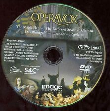 Operavox DVD Magic Flute Seville Carmen Rheingold Barber Turandot NO CASE