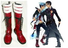 Ao No Blue Exorcist Rin Okumura Cosplay Costume Boots Boot Shoes Shoe UK