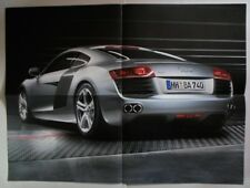 AUDI R8 Large Format 2006 2007 Factory Issued Double Sided Poster - Brochure