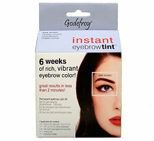 Godefroy Instant Eyebrow Tint Dark Brown 4 Application Kit, Complete kit.