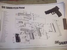 SIG Sauer 226 Poster  - Parts Schematic Poster - Stain Damage