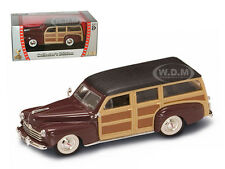 1948 FORD WOODY BURGUNDY 1/43 DIECAST CAR MODEL BY ROAD SIGNATURE 94251