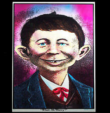 """70's MAD ALFRED E NEWMAN  """"WHAT ME WORRY"""" RARE VINTAGE BLACKLIGHT POSTER PINUP"""