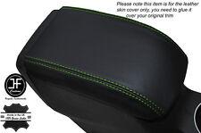 Cuciture Verde Cuoio Pelle Bracciolo Lid COVER si adatta Ford Fiesta MK9 2013-2016