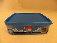 RUBBERMAID 10.4 CUP FREEZER BLOX FOOD STORAGE CONTAINER BLUE SQUARE NEW 1867387