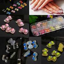 60Pcs 3D Resin Crystal Rhinestone DIY Nail Art Cellphone Decoration In Box Case