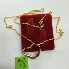 GoldNMore: 16 Inches 18K Necklace & Pendant  2.2G