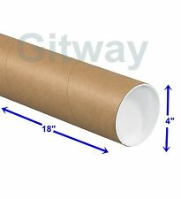 """4"""" x 18"""" Cardboard Poster Shipping Mailing Mail Packing Postal Tube 15 Box Tubes"""